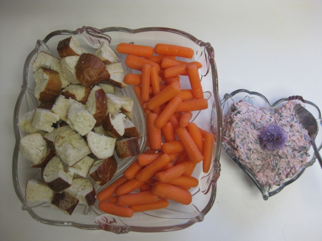 Amaranth Dip with Pretzel Bread and Carrots - 5/27/13