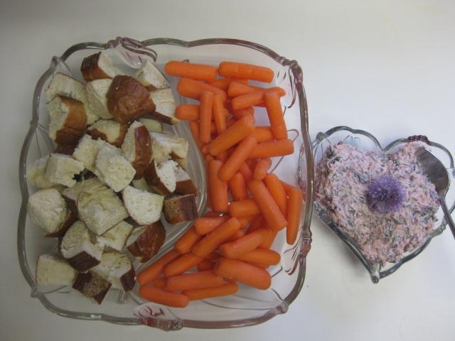 Amaranth Dip with Pretzel Bread and Carrots - 5/27/13