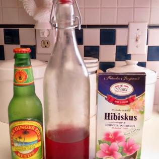 Ginger beer and hibiscus tea