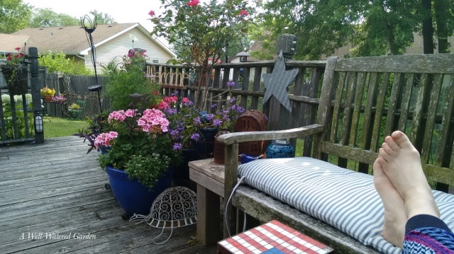 container garden on deck